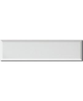 Carrelage métro D blanc mat 10x40cm