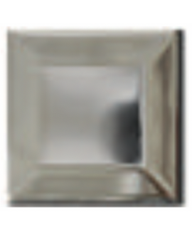 Carrelage métro D métal chrome 7.5x7.5cm