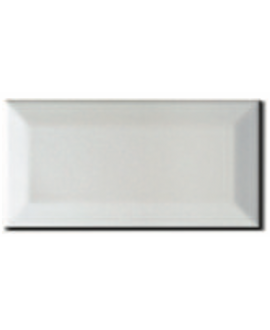 Carrelage métro D blanc mat 7.5x15cm