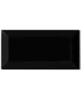Carrelage métro D noir mat 7.5x15cm