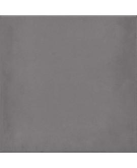 Carrelage imitation carreau de ciment gris foncé uni ancien 20x20 cm V 1900 marengo