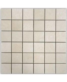 Mosaique D travertin thala beige 4.8x4.8cm sur trame 30.5x30.5x1cm