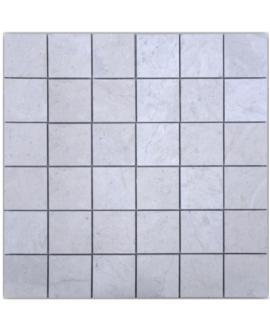 Mosaique D travertin thala gris 4.8x4.8cm sur trame 30.5x30.5x1cm