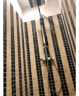 Mosaique salle de bain, cuisine D travertin classic 4.8x4.8cm sur trame 30.5x30.5x1cm