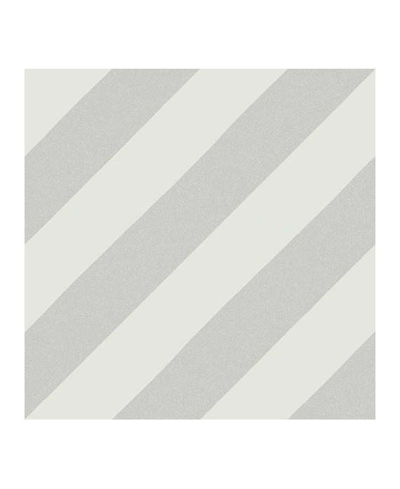 Carrelage imitation carreau de ciment bande diagonal V Goroka gris 20x20 cm
