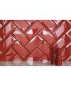 Carrelage métro D rouge vif 7.5x15cm