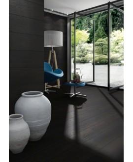 Carrelage imitation plancher en bois noir, sol et mur, salon, 19.2x119.3cm rectifié, V okinawa carbon