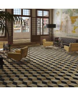 Carrelage imitation parquet décoré 3D, en relief, hotel, 22x28cm, V adamant1