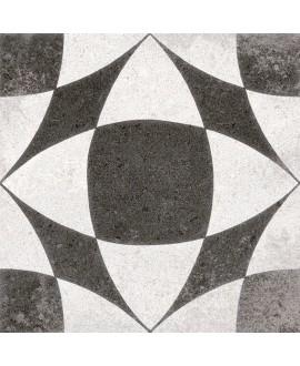 Carrelage imitation carreau ciment 20x20cm, V Berkane negro