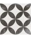 Carrelage imitation carreau ciment étoile noir, 20x20 cm, V Kerala negro