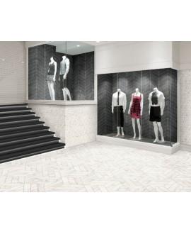 Carrelage diamond realstatuario chevron Left imitation marbre 70x40cm