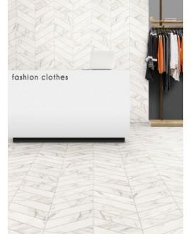 CCarrelage diamond realstatuario chevron Right imitation marbre 70x40cm