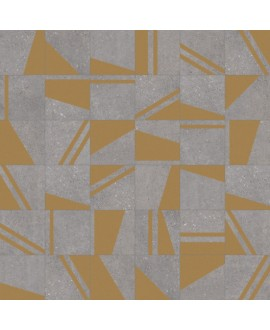 Carrelage imitation carreau de ciment 20x20cm, V kokomo grafito oro