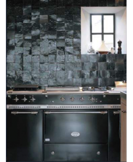 carrelage en terre cuite zellige noir 10x10x1.1cm