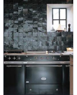 Zellige salle de bain cuisine carrelage en terre cuite D noir 10x10x1.1cm