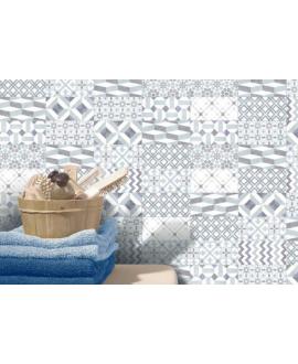 Carrelage D seventy bleu patchwork 7.5x15cm