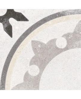Carrelage imitation carreau de ciment blanc 20x20cm, V fiyi blanco