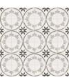 Carrelage imitation carreau de ciment cercle ancien  20x20cm, V fiyi blanco