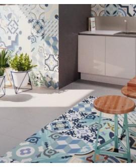 Carrelage réalhanoi bleu décor 33x33cm (36 decor différents) effet carreau ciment