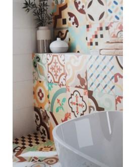 Carrelage réalhanoi saumon décor 33x33cm (36 decor différents) effet carreau ciment