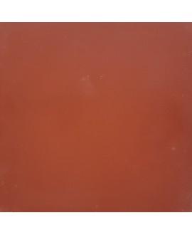 Carrelage ciment uni rouge acajou 20x20cm véritable 70