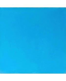 Carrelage ciment bleu azur uni 20x20cm veritable 85