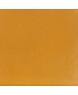 Carrelage ciment jaune cumin mat uni 20x20cm veritable 27