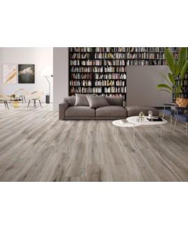 Carrelage imitation parquet moderne gris clair, grande longueur, sol et mur, XXL 30x180cm rectifié, santabwood ash