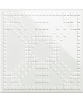 Carrelage VO 3D dekorkodici KDGL 26 blanc 26x26x1cm
