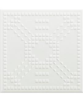 Carrelage VO 3D dekorkodici KDSB 26 blanc satiné 26x26x1cm
