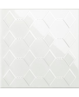 Carrelage VO 3D dekorkorian KRLB 26 blanc brillant 26x26x1cm