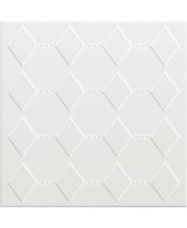 Carrelage VO 3D dekorkorian KRSB 26 blanc satiné 26x26x1cm