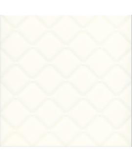 Carrelage D matelassé ivoire brillant 20x20x0.6cm