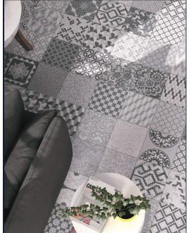 Carrelage D patchwork atenas imitation carreau ciment 25x25x0.9cm