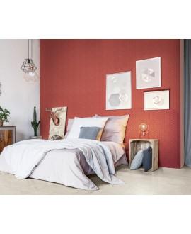 Mosaique hexagonale mini tomette rouge cerise mat sol et mur 4.3x3.8cm sur trame 31.6x31.6cm terracherry
