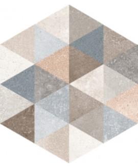 Carrelage hexagone V décor fingal 23x26.6 cm
