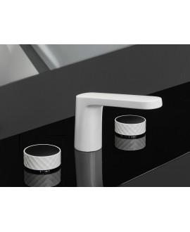 Mélangeur lavabo 3 trous blanc mat F5601XBS+C23L