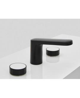 Mélangeur lavabo 3 trous noir mat F5601VNS+C22L