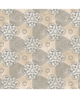 Carrelage imitation carreau de ciment hexagone mat décoré 23x26.6 cm V kunashir multicolor