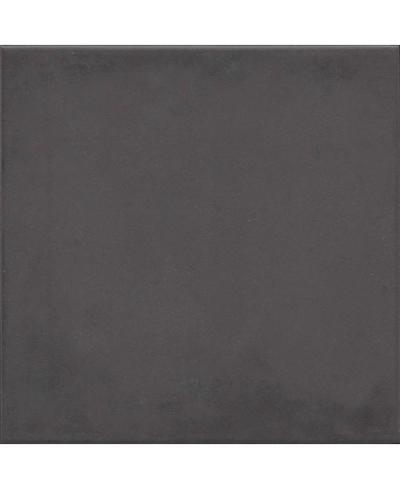 Carrelage imitation carreau de ciment noir ancien uni 20x20cm V 1900 basalto