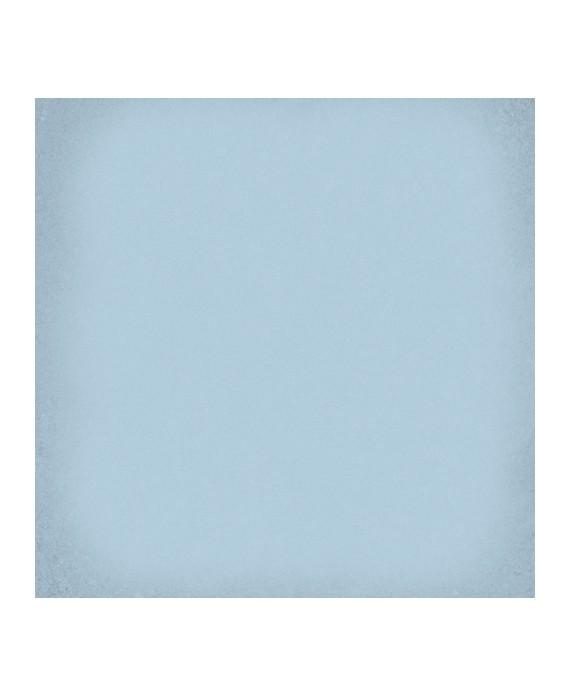 Carrelage imitation carreau de ciment bleu clair uni ancien 20x20cm ancien uni V 1900 celeste