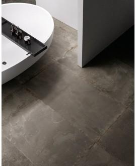 Carrelage imitation métal 60x60cm, santoxydart iron