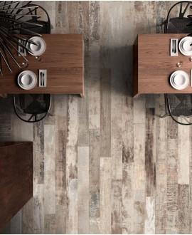 Carrelage imitation parquet contemporain restaurant 15x120cm rectifié, santacolor desert