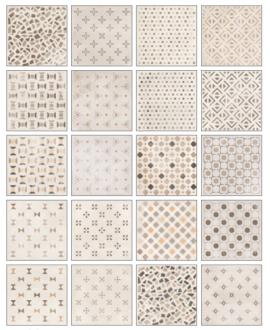 carrelage ritual patchwork light effet carreau ciment 20x20 cm rectifié