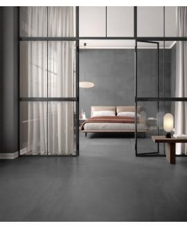 Carrelage imitation pierre moderne mat, chambre, 90x90cm rectifié, santaritual nuit