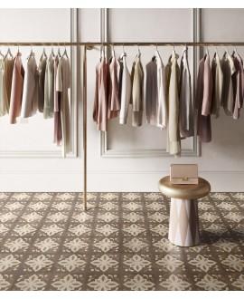 Carrelage imitation marqueterie de bois incrusté précieux,carré, sol et mur 20x20cm rectifié, santintarsi classic 02, R10