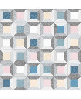 Carrelage imitation carreau ciment 20x20cm V argileto multicolor
