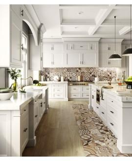 Carrelage, patchwork, effet marqueterie bois et marbre incrusté, sol et mur, 20x20cm rectifié, santintarsi elite mix, R10