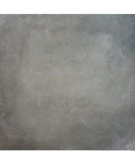 Carrelage cabeton rust mat imitation beton et resine gris foncé antidérapant 60x60cm rectifié