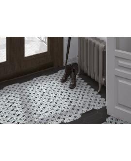 Carrelage losange, navette décor mat 10x30cm, equipecentury grey